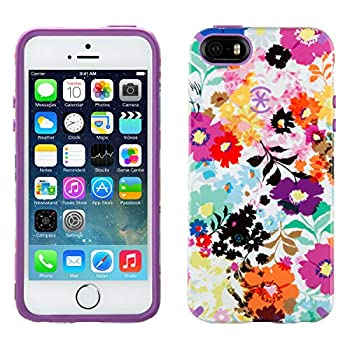 Speck Products Candyshell Inked Case for iPhone R  5/5s Bold Blossoms/Revolution Purple