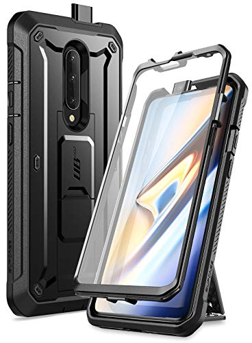 SUPCASE OnePlus 7 Pro Hülle 360 Grad Handyhülle Bumper Case Robust Schutzhülle Cover [Unicorn Beetle Pro] mit Integriertem Bildschirmschutz & Gürtelclip für OnePlus 7 Pro 2019 (Schwarz)