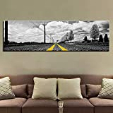 Toile peinture HD imprimer décoration de la Maison 1 Route mur Art modulaire Image arbre oeuvre Aquarelle paysage affiche 1 30x45 cm x 1 PCS (Sans Cadre)