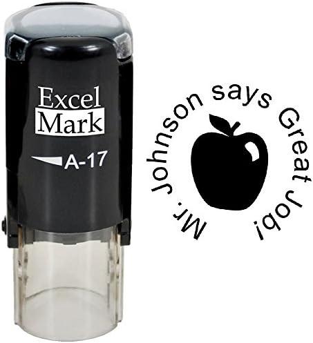 Great Job ExcelMark Custom Round Self Inking Teacher Stamp product image