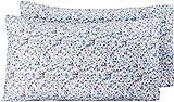 Amazon Basics - Funda de almohada de microfibra, 2 unidades, 50 x 80 cm - Azul floral
