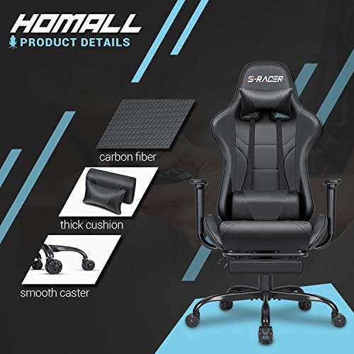 Homall-Ergonomic-Desk-Chair-with-Footrest-Racing-Executive-Swivel-Chair-Adjustable-Rolling-Task-Chair