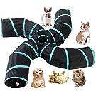 Katzen-Tunnel , S-Form, 4-Wege zusammenklappbar, mit Aufbewahrungstasche, großes Spielzeug, Knistertunnel für Kätzchen, Welpen, Kaninchen, Kätzchen, Meerschweinchen Spieltunnel #4079