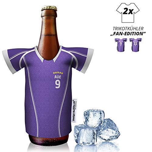 Ligakakao vereins-Trikot-kühler Home für FC Erzgebierge AUE-Fans | 2er Fan-Edition| 2X Trikots | Fußball Fanartikel Jersey Bierkühler by