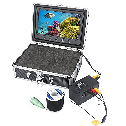 HD WiFi Wireless Underwater Fishing Camera 10 Inch TFT Color Display Video Recording iOS Android APP Support Video Recording and Photographing,50m