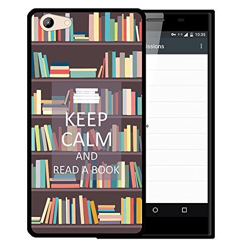 WoowCase Doogee Y300 Hülle, Handyhülle Silikon für [ Doogee Y300 ] Keep Calm and Read a Book Handytasche Handy Cover Case Schutzhülle Flexible TPU - Schwarz