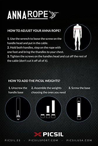 PICSIL Anna -Corde à Sauter - Aluminum - Workout pour Double Unders, Cross Fitness, WOD, Outdoor, MMA et Boxe Formation. Lima