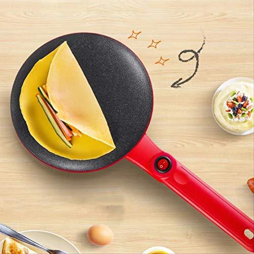 Non-Stick Crepe-Maschine, elektrische Haushalts Baking Pan Spring Roll Cortex Automatische Mini Pancake Pancake Pan,Rot