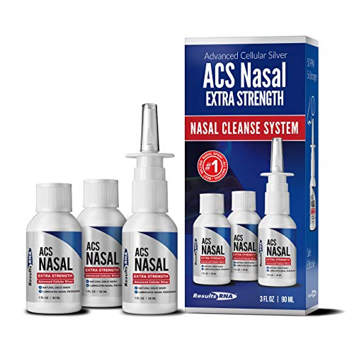 Results RNA ACS Nasal Colloidal Silver Extra Strength | Advanced Nasal Spray for Highly Effective Immune System Support (3 Bottles)