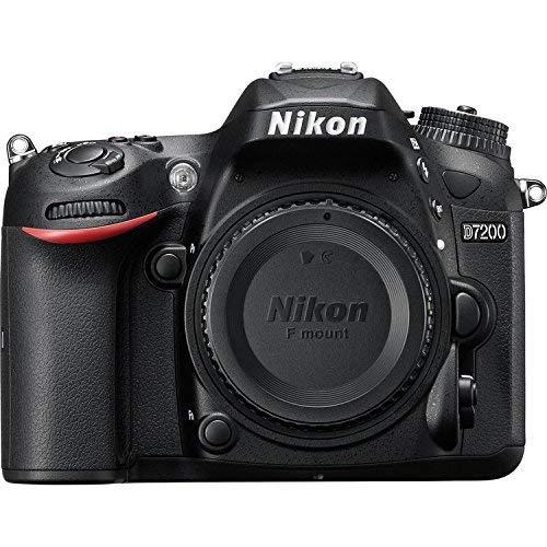 Nikon D7200 DX-Format DSLR Body (Black) (Renewed)