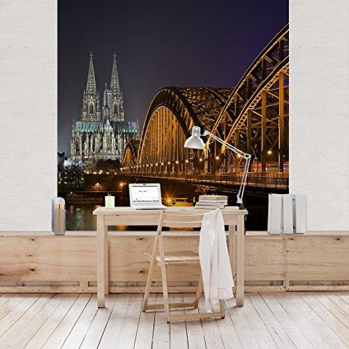 Apalis Vliestapete Kölner Dom Fototapete Quadrat | Vlies Tapete Wandtapete Wandbild Foto 3D Fototapete für Schlafzimmer Wohnzimmer Küche | Größe: 192x192 cm, mehrfarbig, 95361