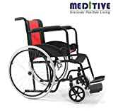 MEDITIVE Light Weight Premium Foldable Wheelchair with for Elders, Patients and Disabled