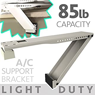 Universal Window Air Conditioner Bracket - 1pc Medium-Duty Window AC Support - Support Air Conditioner Up to 85 lbs. - For 12000 BTU AC to 24000 BTU AC Units (MD 1PC ACB) (1, MED DUTY- ONE ARM)