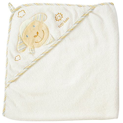 Fehn 397086 Kapuzenbadetuch BabyLOVE – Bade-Poncho aus Baumwolle mit niedlichem Schaf für Babys und Kleinkinder ab 0+ Monaten – Maße: 80 x 80 cm