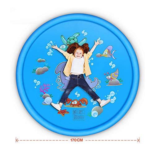 Sprinkle And Splash Speelmat, 170Cm Water Splash Pad Zwembad Zomer Buitenspellen Tuin Spuitspeelgoed Voor Kinderen Peuters (Marine Pattern),A