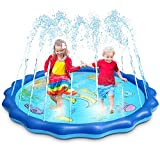 OMWAY Splash Pad for Toddlers, 69' Kids Sprinklers for Yard, Water Play Mat for Babies,Inflatable Kids Pool Games for Backyard Outside,Summer Outdoor Toys Gifts for 1-8 Years Old Boys Girls