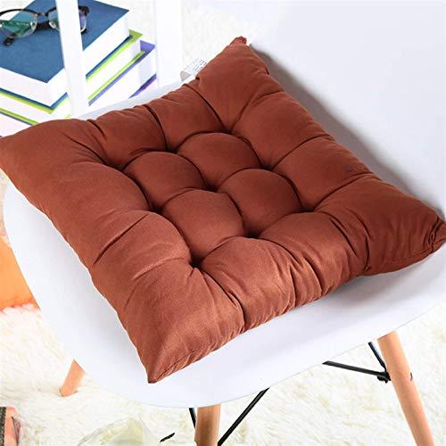 morbido home office decor quadrato in cotone sedile tappetini mat mat glutei sedie cuscino cuscino cuscino per ufficio sedia per computer decorazione A (Colore: Grigio 9, 规格: 40x40cm)-40x40cm,Coffee 3
