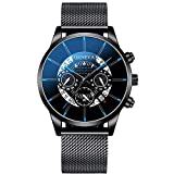 Räumung Uhr U.Expectating, Männer Armbanduhr Luxury Fashion Stainless Steel Mens Blue Ray Glass...