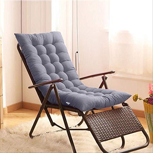 NoNo Recliner schommelstoelmat massief dik bekleed zitkussen rotan stoel sofakussen kussen tatami mat raam vloermat 48x125cm grijs