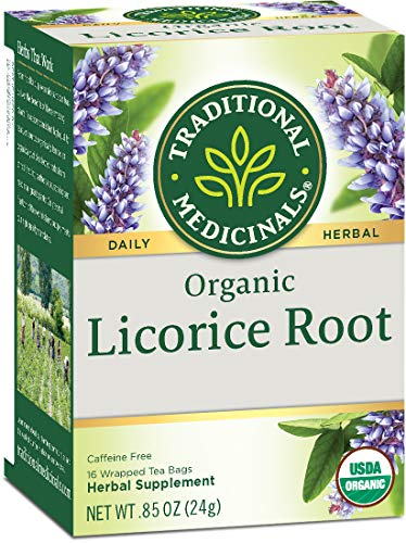 Traditional Medicinals Organic Licorice Root Tea, 16 Tea Bags (Pack of 2)