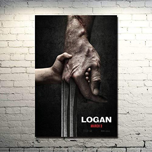 Flduod 2017 Logan Golden Wolf 3 Poster Malerei Druck Leinwand Malerei Malerei Große Dekoration für Wohnzimmer nach Hause-50 x 70 cm/Rahmenlos