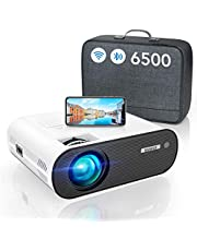 "WiFi Bluetooth Beamer, WiMiUS LED Video Beamer Full HD Unterstützung 1080P Heimkino Beamer 300"" Display, Kompatibel mit Fire Stick, PS5 Tragbarer Projektor"