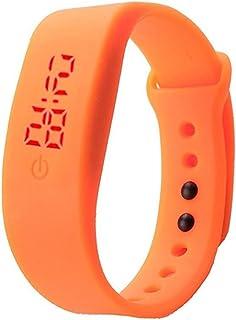 BRUSSELS08- Orologio sportivo per ragazzi e ragazze con display digitale e cinturino da polso unisex in silicone