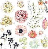 Hergon Parches de mariposas y pájaros para ropa de niños, pegatinas de bricolaje, parche para planchar, para bolsas, sombreros, jeans, apliques de decoración, 91#
