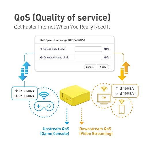 GL.iNet GL-MT300N-V2 (Mango) Wireless Mini Portable VPN Reiserouter,mobiler Hotspot für unterwegs, WiFi Repeater Bridge, Range Extender, OpenVPN-Client, 300Mbps Hochleistung, 128MB RAM