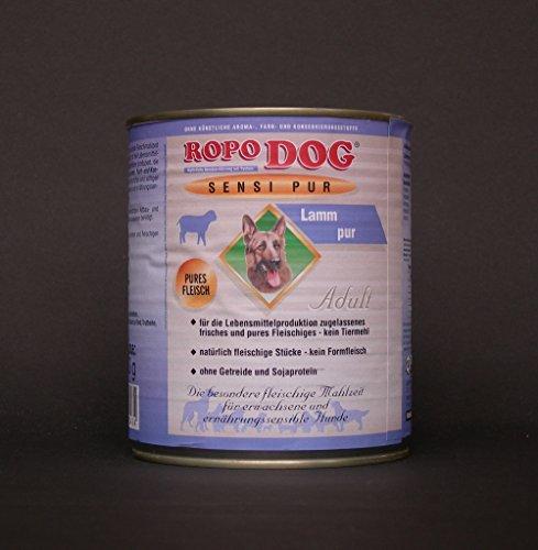 RopoDog 30 Dosen à 800 gr Adult Sensi Pur Lamm - pures Fleisch