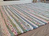 Second Nature Pastell Flickenteppich 120cm x 180cm indischen helles Multi