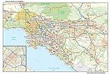 Los Angeles, California Wall Map, Small - 21.5' x 14.5' Matte Plastic