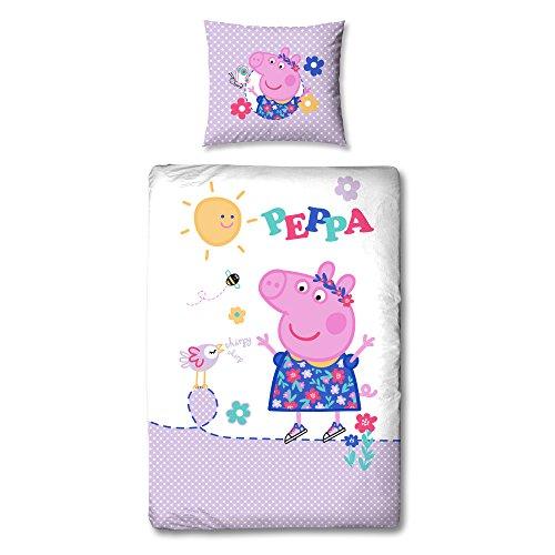 Linon Bettwäsche Peppa Wutz Pig - Adorable 135 x 200 cm + 80 x 80 cm - Neu & Ovp - 100% Baumwolle - deutsche Größe