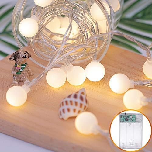 Les Led-lichtsnoer, waterdicht, led-snoer Fee, 2,5 m, bal voor meisjes, hart, kamer, decoratie, lamp, lantaarnvorm, batterij, 40 lampen, 5 meter
