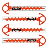Jiodux Tent Pegs Ground Anchor Camping Stakes Dog Screw Orange PC Plastic Tent