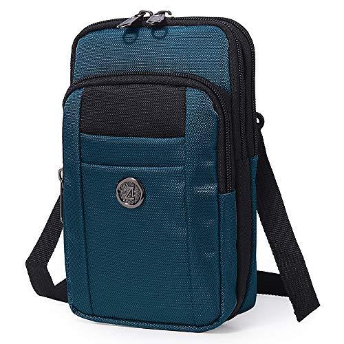 Sentient Wolf Water-Resistant Oxford Fabric Multifunction Phone Bag One Shoulder Phone Waist Bag...