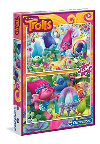 Trolls - Puzzle 2 x 60 piezas Clementoni 07128