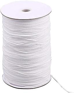 Elastic String for Masks 200-Yards Elastic Bands for Sewing 1/8 inch Elastic for Sewing Elastic Cord for Face Masks/Elastic Band/Elastic Thread/Round Elastic/Elastic Bandage/Elastic Rope(White)