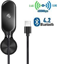 Lemorele Adaptador WiFi USB 3.0 AC1200Mbps Bluetooth 5.0 Adaptador de Banda Dual Súper Rápido 5.8G/2.4G WiFi Dongle MU-MIMO 5dBi para Windows 10/8.1/8/7/XP, Linux, Mac OS, Xbox/PS4/NS Controller