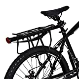 Zerone - Portaequipajes trasero para bicicleta de aluminio, portaequipajes trasero para bicicleta...