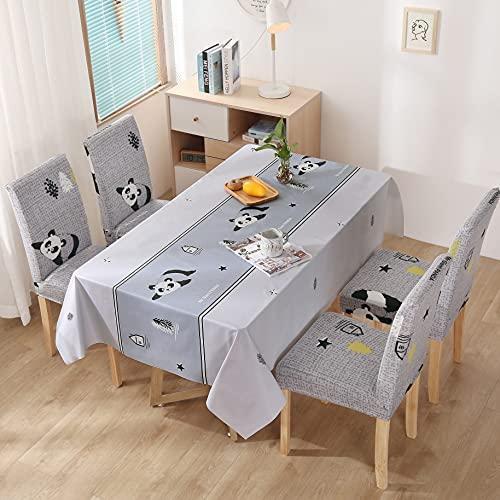 XXDD Mantel Impermeable Mantel y Cubierta de Silla combinación Mantel de Restaurante Hotel Hogar Cocina decoración A13 140x160cm