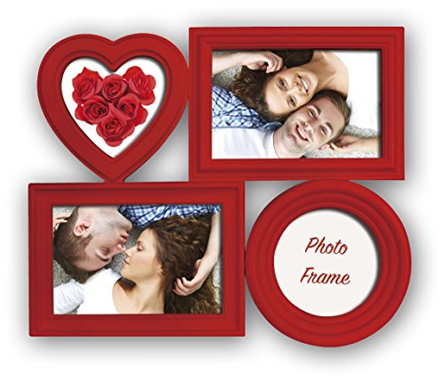 Zep Bilbao Portafotos múltiple, Rojo, 32x26.5x2.5 cm