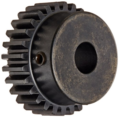 Martin S1618 Spur Gear, 14.5° Pressure Angle, High Carbon Steel, Inch, 16 Pitch, 1/2' Bore, 1.25' OD, 0.500' Face Width, 18 Teeth
