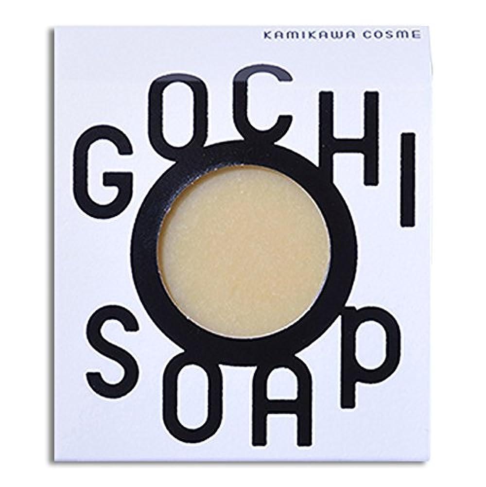 描くハンディキャップトチの実の木道北の素材を使用したコスメブランド GOCHI SOAP(山路養蜂園の蜂蜜ソープ?ふじくらますも果樹園のりんごソープ)各1個セット