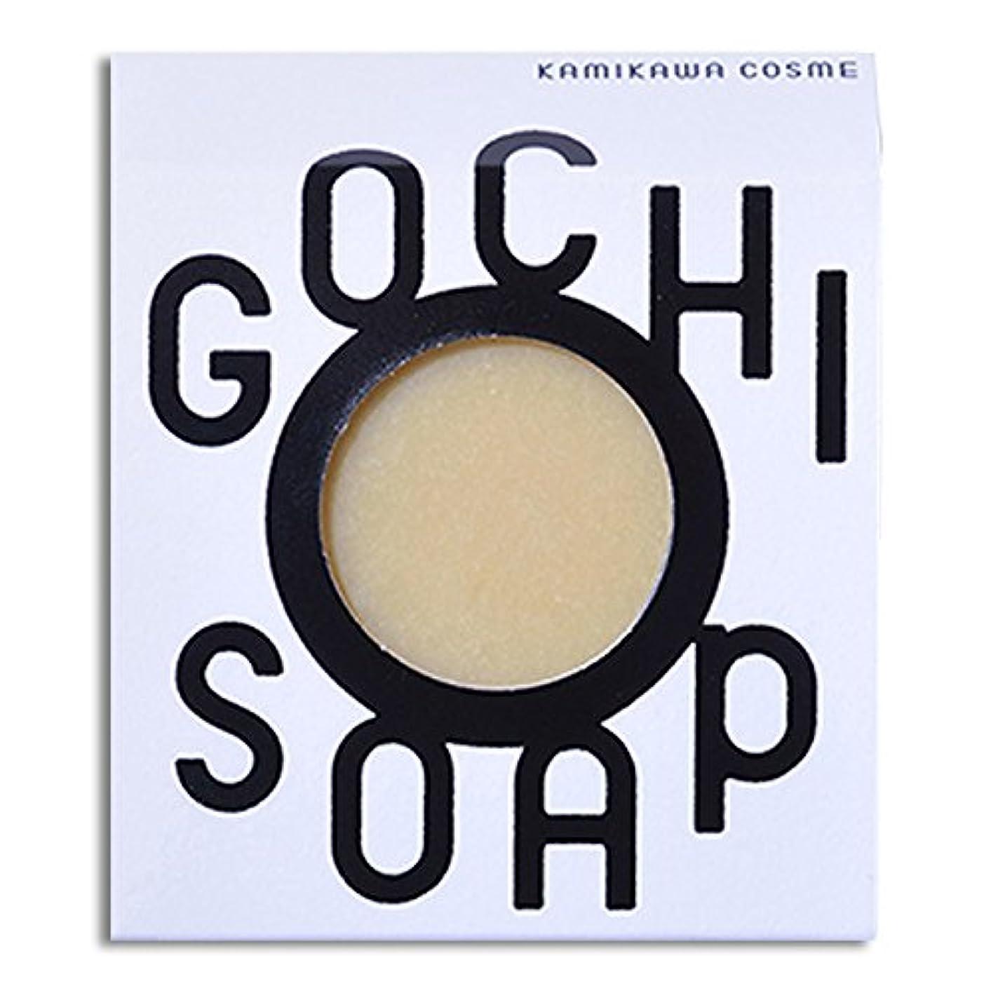 リークヒールロケット道北の素材を使用したコスメブランド GOCHI SOAP(山路養蜂園の蜂蜜ソープ?ふじくらますも果樹園のりんごソープ)各1個セット