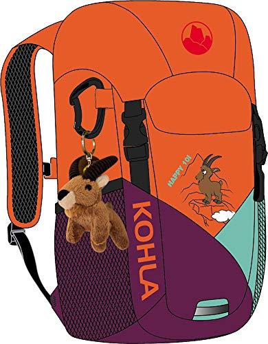 KOHLA Kinder Happy 10 Rucksack, red orange-Magenta Purple