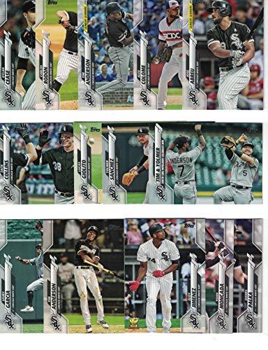 Chicago White Sox / Complete 2020 Topps White Sox Baseball Team Set! (26 Cards) Series 1 and 2! Eloy Jimenez! Luis Robert Rookie Card! PLUS BONUS: Includes (3) bonus Frank Thomas Cards / White Sox Hall of Famer!