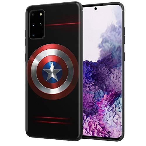 Galaxy S20+ Case 6.7', Comics Galaxy Case Plastic Full Body Protection Cover for Galaxy S20 Plus (Captain-America)