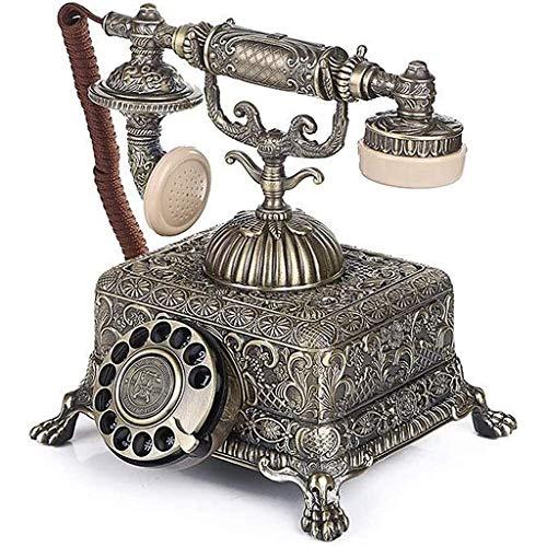 VERDELZ Teléfono Fijo Fijo Teléfono Retro, Teléfono Antiguo Vintage Retro Fijo Casa Teléfono De Casa Auricular Marcado Hogar Y Oficina Estilo De Marcado De Teléfono