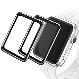 Qianyou [2 Stück] Schutzfolie Bildschirmschutzfolie Kompatibel mit Apple Watch 38mm Serie 1/2/3, 3D Vollbild Coverage Transparent Anti-Kratz [HD] weiche Folie